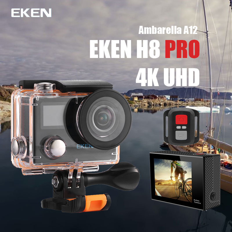 Original Eken H8 PRO Ultra HD Action Camera with Ambarella A12 chip 2.0' Screen 4k/30fps 1080p/120fps  h8pro sport Camera original eken action camera eken h9r h9 ultra hd 4k wifi remote control sports video camcorder dvr dv go waterproof pro camera