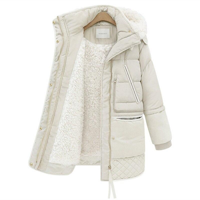 2017 autumn winters more wool winter jacket women warm hooded long lambs wool coats winter coat