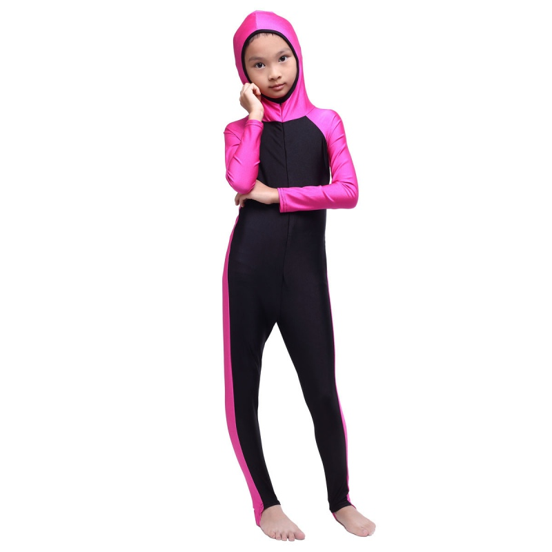New font b Muslim b font Arab Kids Girls Modest Swimwear Full Cover font b Swimsuit