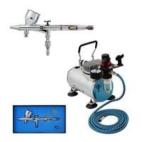 Precision Detail AB 180 Airbrush Kits with Air Compressor TC 20B Body Art Painting Car