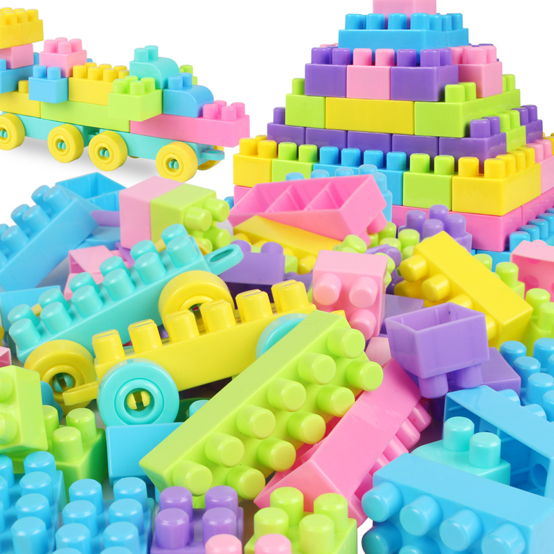 0c3dcd733 200 Pcs Building Blocks Child Large Particles Plastic Inserted Assembled Building  Blocks Baby Figures Educational Toy Kid Gift-in Blocks from Toys   Hobbies  ...