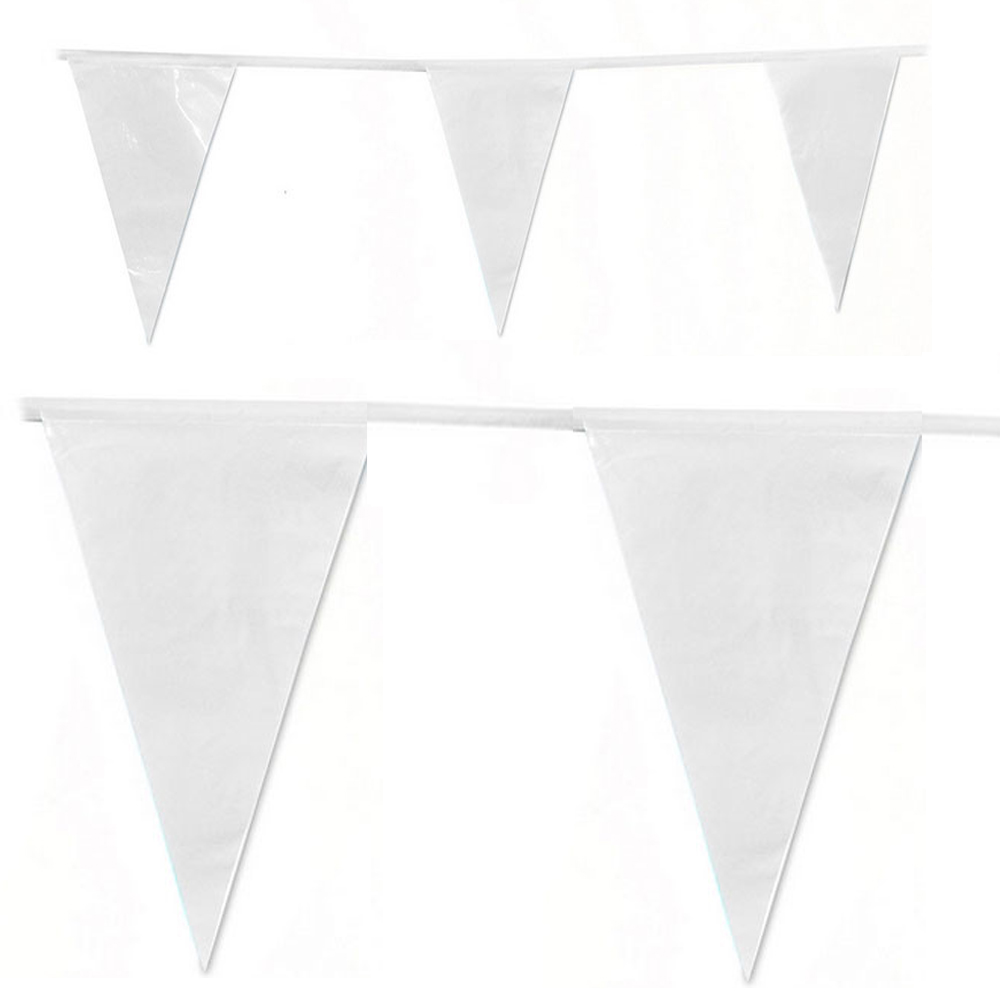 White 80 M 200 flags Bunting flags,festive&party decoration, flag Garden Wedding supplies,Romantic white party flags and banners image