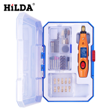 HILDA Engraving Pen 12V Mini Drill Rotary tool With Grinding Accessories Set Multifunction Mini Engraving Pen For Dremel tools