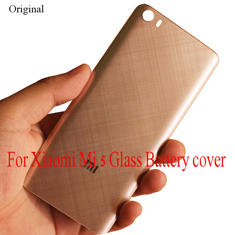 Original 3D Glass Back Cover For Xiaomi Mi 5 Mi5 5.15 Inch Housing Panel Battery Door For Xiaomi 5 Battery Back Cover