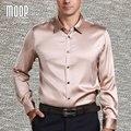 Американский стиль 3 цвета твердые бизнес чистого шелка рубашка мужские рубашки 100% шелк сорочка homm camiseta masculina camisa masculina LT381