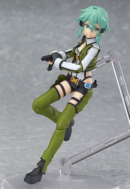 Huong Anime Figure 15 CM Sword Art Online Asada shino Figma 241 PVC Action Figure Collectible Model Toy 1