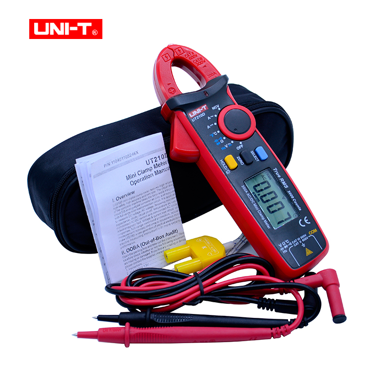 Digital Clamp Meters Multimeter True RMS AC/DC Current Capacitance Tester Digital Multitester LCR Meter Megohmmeter UNI-T UT210D цена