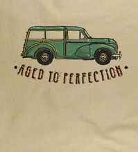 Morris Minor Traveller Series 2 Classic Car Lovely Gift Natural T-Shirt  Harajuku Tops Fashion Unique free shipping