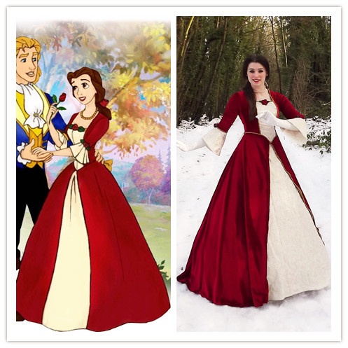 custom made beauty and the beast costume belle christmas dress belle costume christmas costume. Black Bedroom Furniture Sets. Home Design Ideas