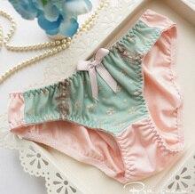Luxury retro lace bows push up bra and panties set