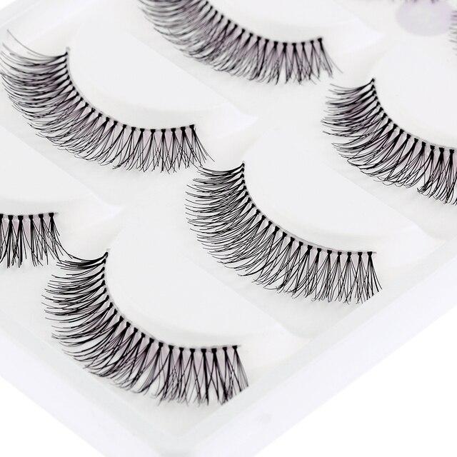 Escassa Cruz Eye Makeup Lashes Extensão 5 Pares Natural Longo cílios Postiços cílios postiços Frete Grátis