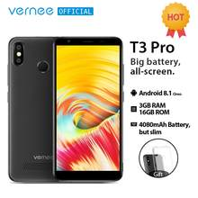 Vernee T3 Pro 5.5'' Full Screen Smartphone 3GB RAM 16GB ROM Mobile Phone Android 8.1 MTK6739 Quad-core 4080mAh 4G LTE Cellphone(China)