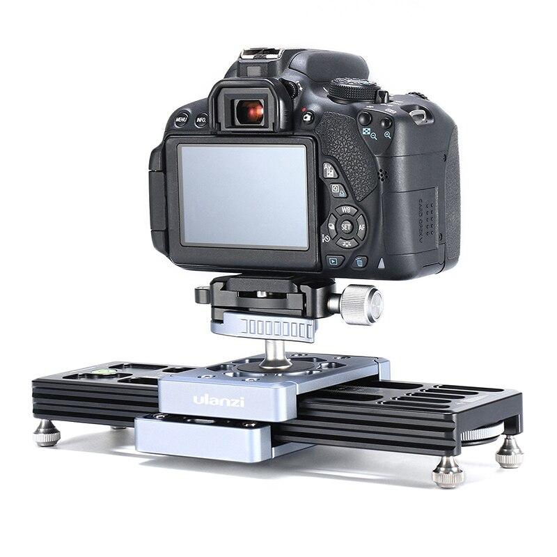 Ulanzi SL-260 caméra de poche curseur Rail de Rail pour caméra vidéo DSLR caméscope téléphone Mini Portable DSLR système de Rail de curseur