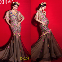 Maternity Wedding Dress Maternity Photography Props Wedding Dresses Pregnant Women photography props Fishtail Dress YL418