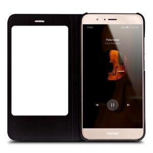 Image 5 - QIALINO Case for Huawei honor v9 Luxury Genuine Leather Ultrathin Flip Cover for Huawei Honor V9 Sleep Wake Function Manual Bag