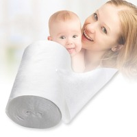 OUTAD New Safety Baby Flushable Biodegradable Disposable Cloth Nappy Diaper Bamboo Liners 100 Sheets 1 Roll