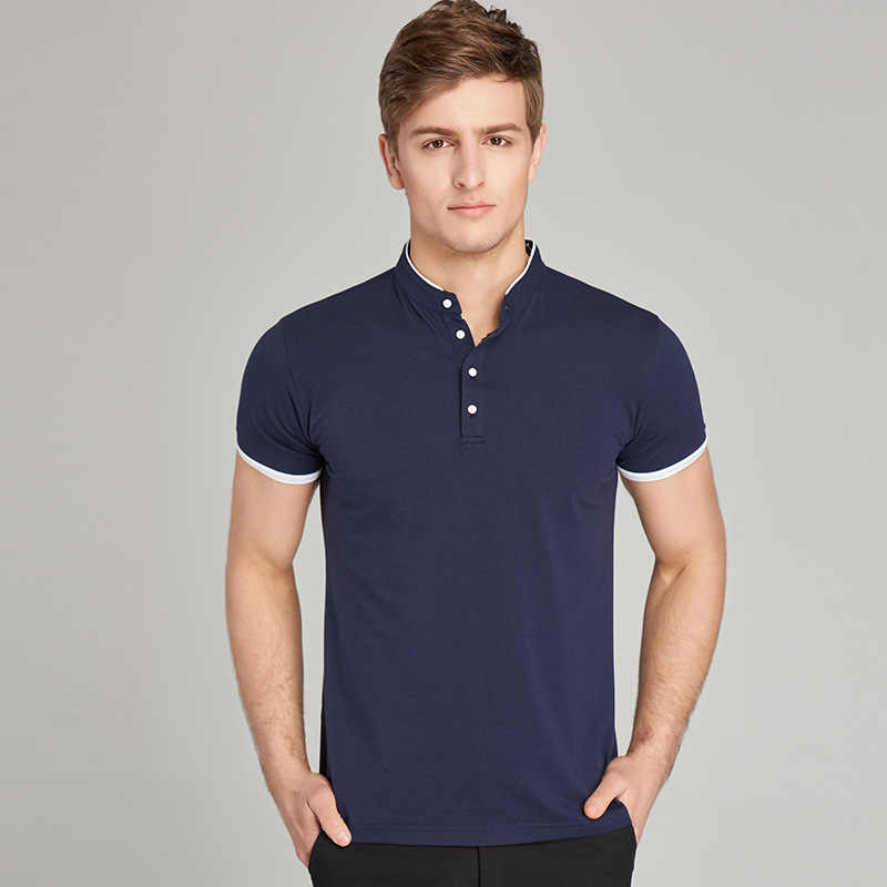 Casual Solid Classic Design 2019 Polo Shirt Men Plus Asian Size 5XL 4XL 3XL-M Spring Autumn Long Sleeve 95% Cotton