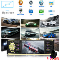 4inch 1Din Car Radio Audio Stereo AUX FM car stereo bluetooth Autoradio with Rearview Camera Remote Contro