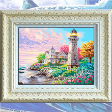 Beacon Heart Bay Lighthouse Sea House 5D DIY Diamond Painting Cross Stitch Of Diamonds Embroidery Mosaic For Home Bed Room Decor