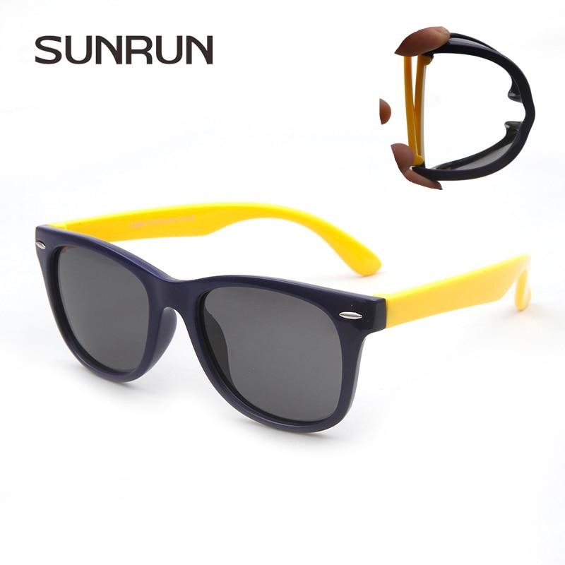 SUNRUN Children Polarized Sunglasses TR90 Baby Classic Fashion Eyewear Kids Sun glasses boy girls sunglasses UV400 Oculos s886