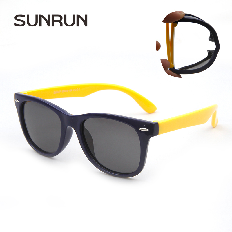 SUNRUN Children Polarized Sunglasses TR90 Baby Classic Fashion Eyewear Kids Sun glasses boy girls sunglasses UV400 Oculos s886