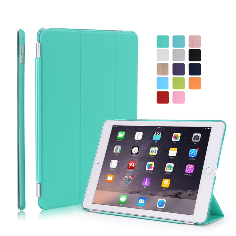 for ipad air2 case pu leather magnetic smart+ hard pc matte transparent bottom cover with free gift stylus for ipad 6 nice matte transparent hard back protective case pu leather magnetic smart cover for apple ipad air 2 case cover 6 thin slim