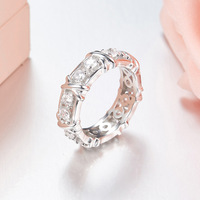 ZOZIRI brand real 925 sterling silver gold circle rings for charm women shiny cubic zirconia rings best summer party jewelry