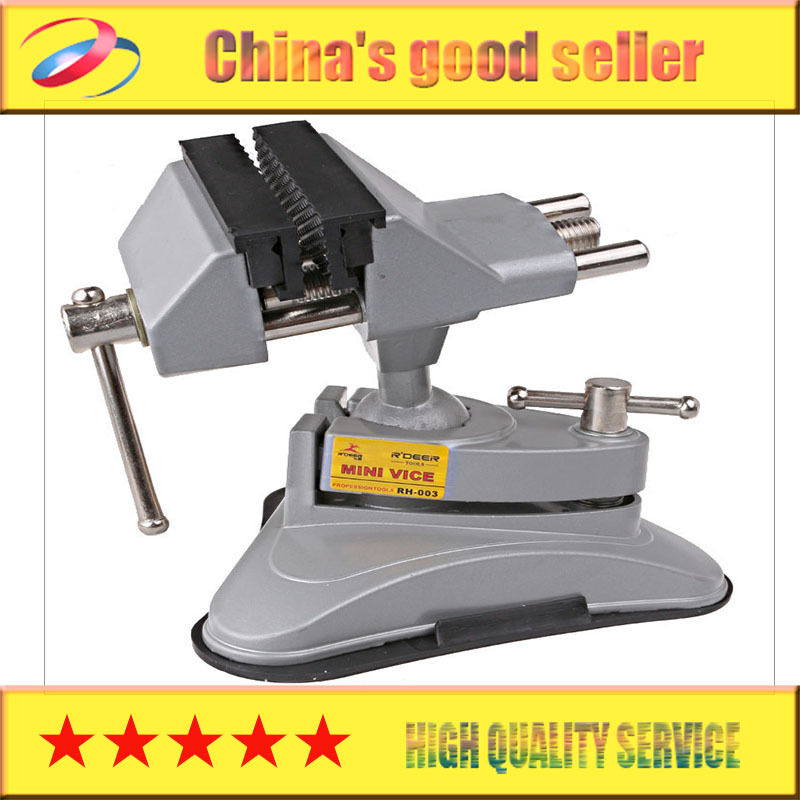Small vise aluminum table vise RH-003 Upscale movable table vise can be rotated 360 degrees  mini upscale vise pro skit pd 372 aluminum alloy mini vise blue