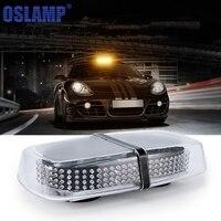 Oslamp 240 LEDs 12V Car Led Emergency Strobe Flash Warning Light Amber Mini Magnetic Pods Top Lamp Police Lights Car Styling