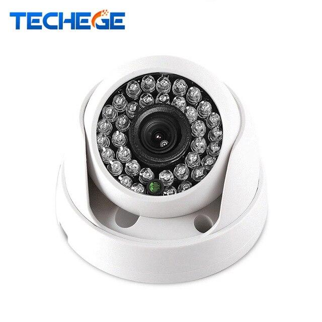 Techege 2.8 ММ Широкоугольный 1080 P Купольная Ip-камера P2P Onvif IP камера 720 P 960 P HD CCTV Камеры Крытый Ночь Версия Сетевая Камера