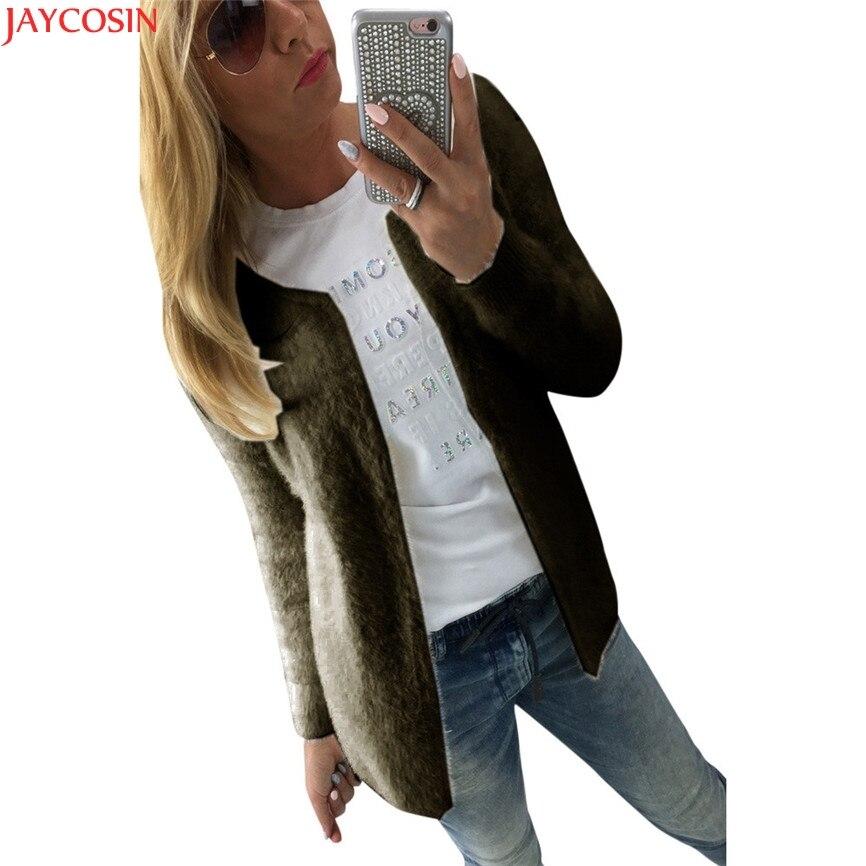 2018 HOT Sale WT Spring&Autumn Women Thin Jackets Tops Ladies Women Fashion Warm Solid Slim Jacket Coat Cardigan