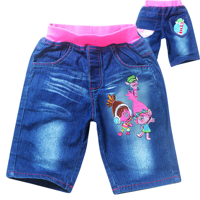 Trolls 2017 kids jeans girls shorts summer children denim shorts girls jeans  short fille cartoon roupas infantis menina c8b009ab5d9