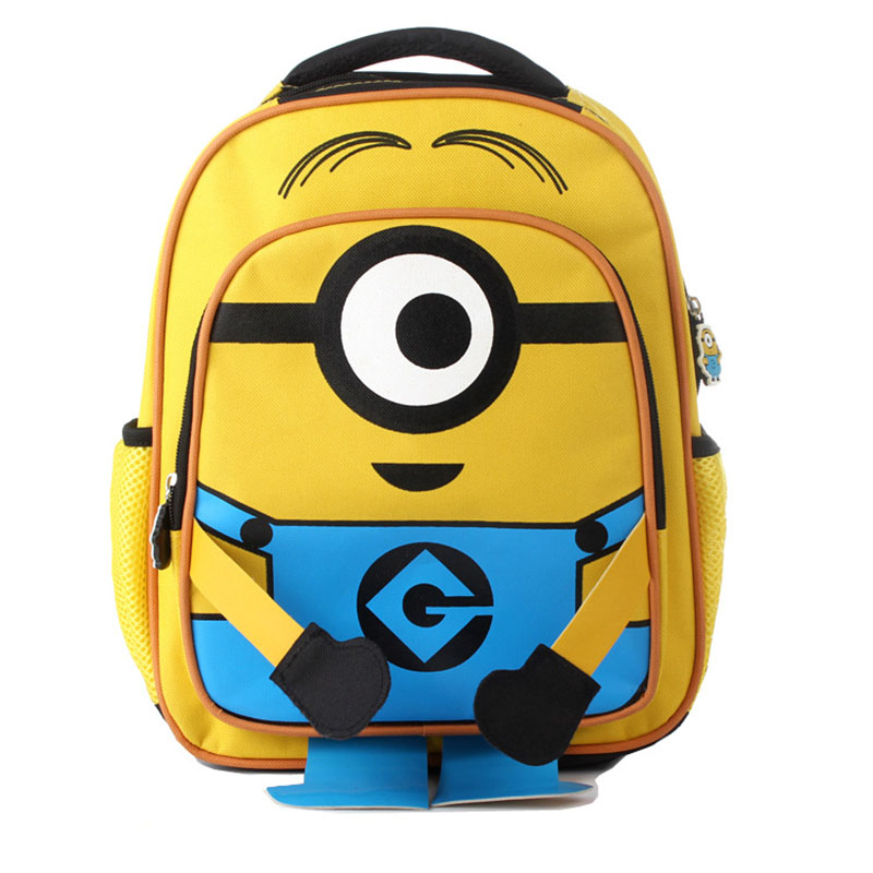 Minions School Backpack Bags For Teenagers Despicable Me Minion Plush Kid Cartoon Backpack Children Shoulder Bag BY0072 minion 2015 despicable me minifigures minecraft building blocks minions toy doll kids toys action 0826