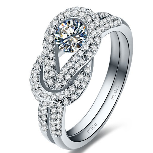 dossy Jewelry 0 45Ct Micro pave Fancy Synthetic Diamonds Engagement Wedding Party Ring for Women 925