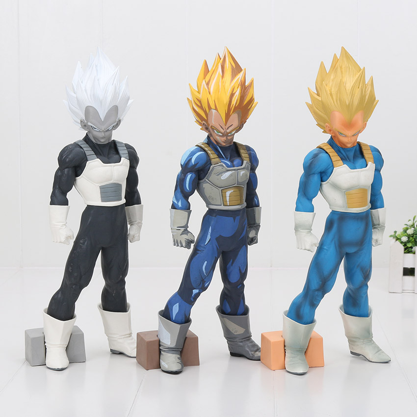 30cm Dragon Ball Z Super Saiyan Vegeta Vegeta Super Master Stars Piece Overseas Limited color PVC Action Figure Toy