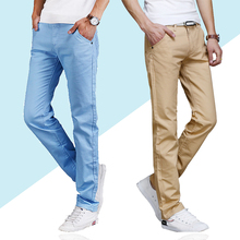 Hot Sale Spring Summer Jeans Thin 2018 men's Casual skinny jeans