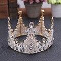Luxry Handmade De Cristal Do Cabelo Do Casamento Coroa Tiara De Noiva Acessórios Para o Cabelo Pérola Jóias Mulheres Headwear