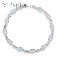 Graduation Gift Hot Sell Wholesale Amazing White Fire Opal Zircon Silver Christmas Bracelets Fashion Jewelry OB046