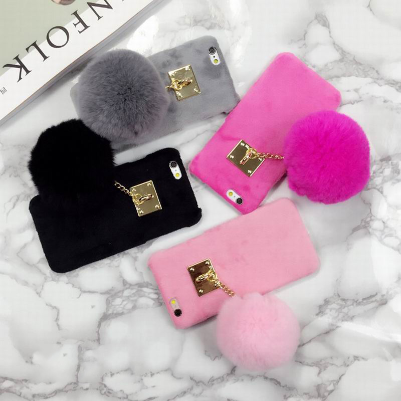 low priced df437 b3862 US $3.78 |New Fuzzy Candy Color Phone Hard Cover With Fashion Fur Ball  Phone Case For Iphone 6 6S 6Plus 6SPlus on Aliexpress.com | Alibaba Group