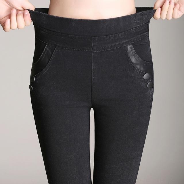 Spring Summer 2017 Ladies Elastic Waist, Stretch Material, Pencil Slim Jeans