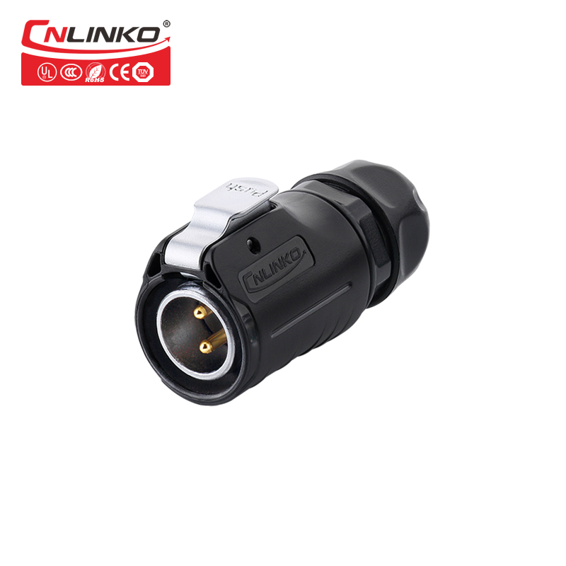 Cnlinko LP-20-C02PE-01-001 2 Pin Power Industrial Circular Connector 20A 500V Outdoor IP67  For Solar Power And Signal Cnlinko LP-20-C02PE-01-001 2 Pin Power Industrial Circular Connector 20A 500V Outdoor IP67  For Solar Power And Signal