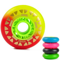 8PCS Set 64 70 72 76mm Roller Skate Wheels PU Inline Skates Wheels Drift Board Snake