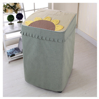 SRYSJS Thicken Cotton Linen Washing Machine Cover Waterproof Sunscreen Washing Machine Protective Case Top Open Case