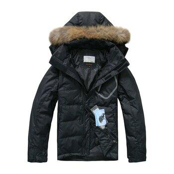 UNITRENDY 2020 New Winter Down Jacket Men Warm Down Coat 90% White Duck Down Casual Down Jackets Men Hooded Winter Jackets Coats цена 2017
