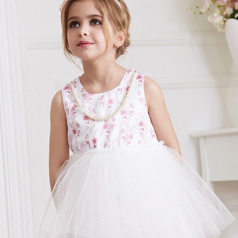 2016 Summer Girl Dress, Fashion Beautiful Printing Of