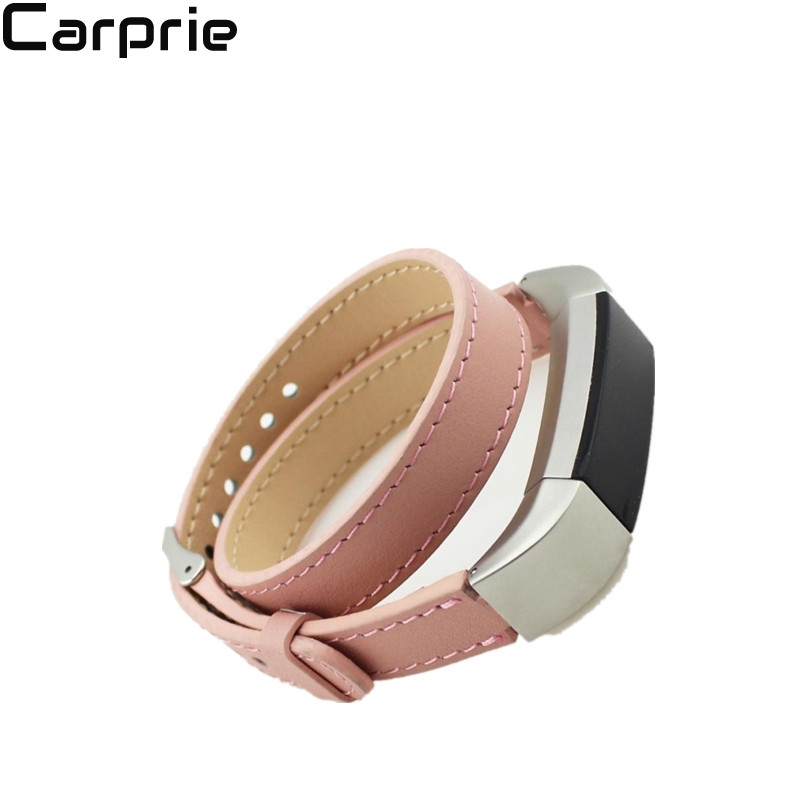 Best price ! 6 colors Double Tour Genuine Leather Watch Band Strap Bracelet For Fitbit Alta high quality drop shipping DEC22