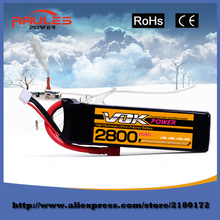 Best selling VOK 100% Brand LiPO 14.8V 2800mAh 35C 4S RC Car Helicopter model plane Lipo Battery Free shipping