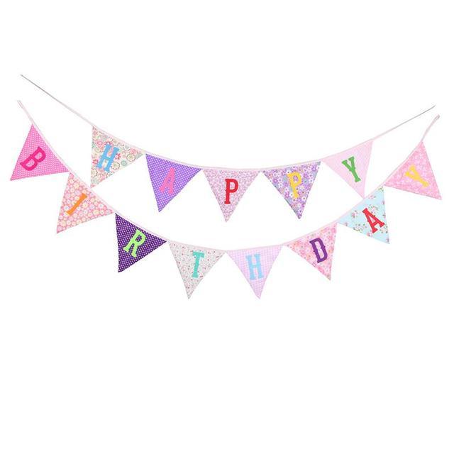 children s birthday party decoration 2 4m happy birthday printed