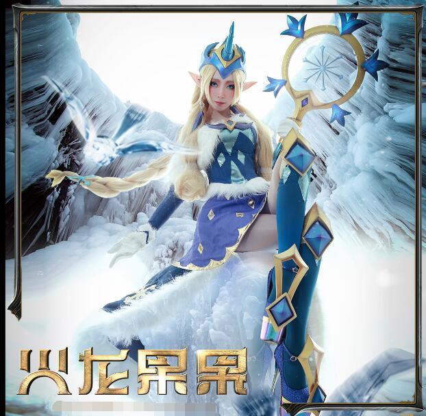 2019 Hot Game LOL Soraka Skin Ice Snow Cosplay Costume Hot Sale Woman Costume