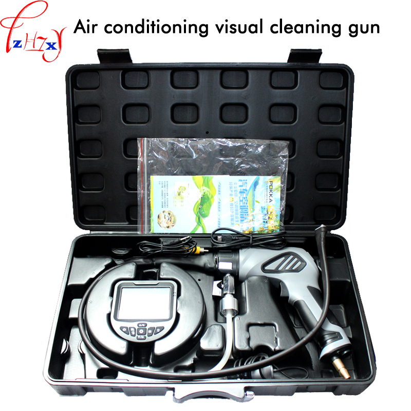 Visual clean spray gun for automobile air conditioning cleaning can store video cleaning tool car air conditioning clean gun 1pcVisual clean spray gun for automobile air conditioning cleaning can store video cleaning tool car air conditioning clean gun 1pc